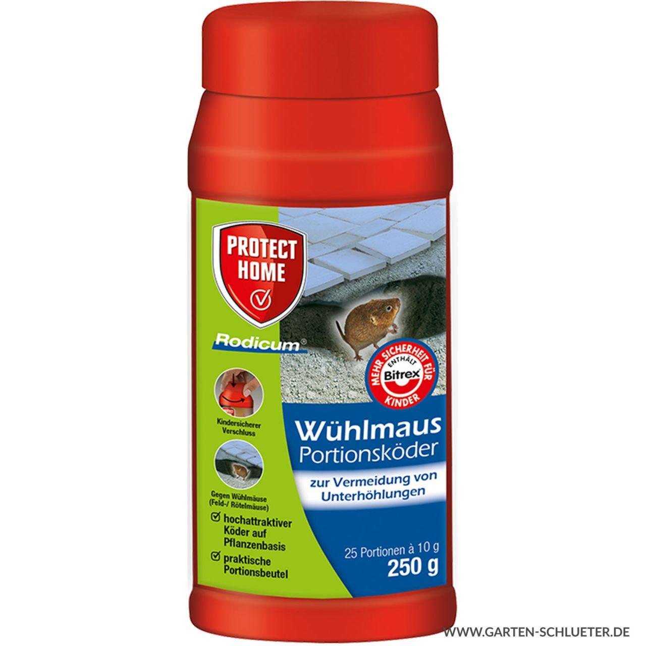 Protect Home Wühlmaus Portionsköder Rodicum 250 g