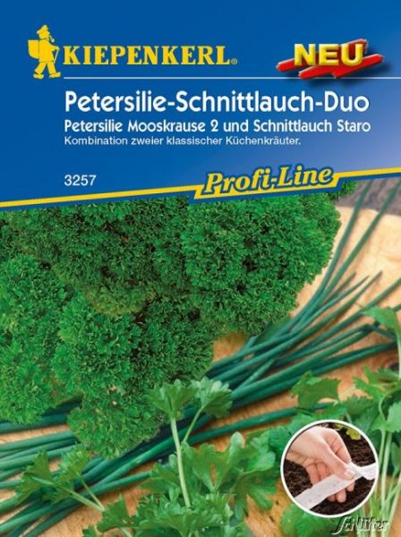 Kräuter-Duo Schnittlauch 'Staro' und Petersilie 'Mooskrause 2' Bild