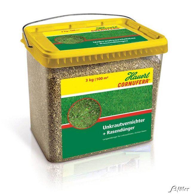 Cornufera® Unkrautvernichter & Rasendünger - 4 kg für 200m²