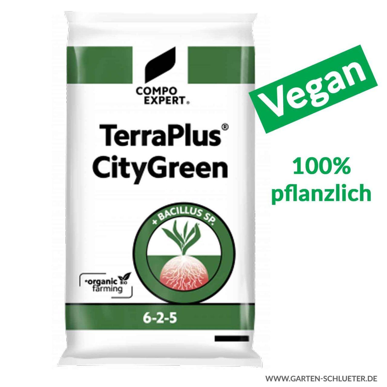 Organischer Volldünger - Compo Expert® TerraPlus® CityGreen 6-2-5 - 20 kg - V...