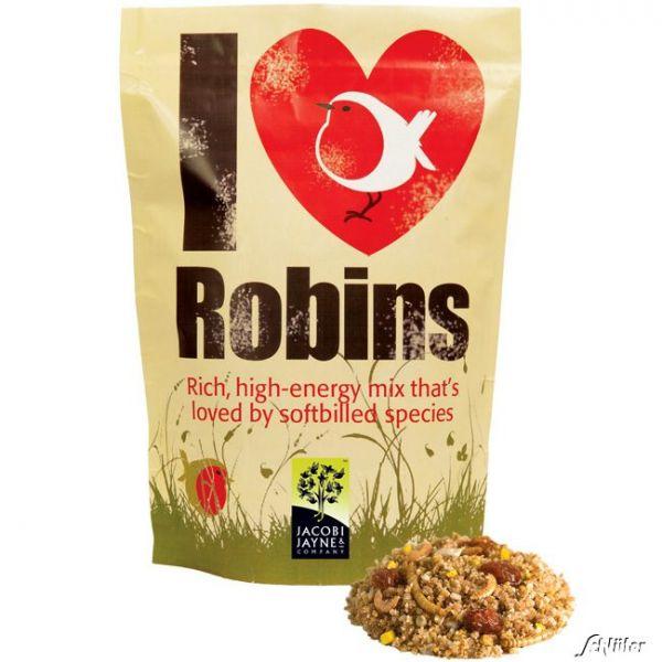 Rotkehlchenfutter 'I love Robins' Rotkehlchenfutter 'I love Robins' Bild