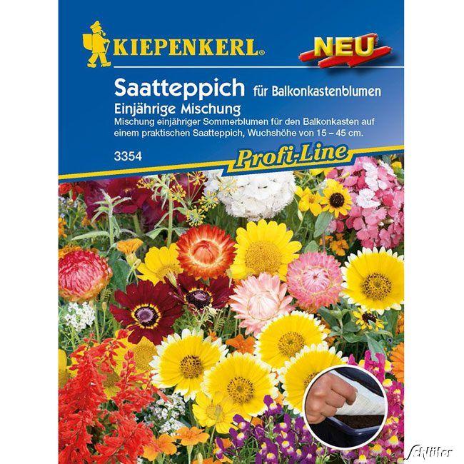 Saatteppich für Balkonkastenblumen 'Einjährige Mischung'