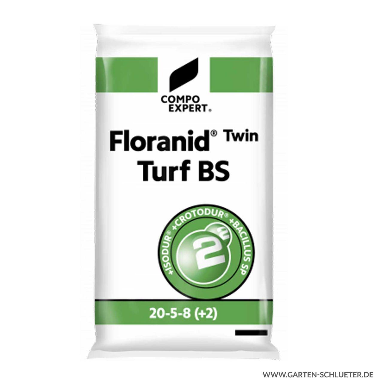 Langzeit Rasen-Volldünger - Compo Expert® Floranid® Twin Turf BS 20-5-8 (+2) ...