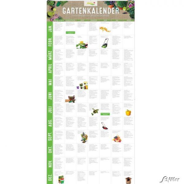Gartenkalender 'Gartenarbeiten von Januar bis Dezember' auf einem Blick im Türformat Bild