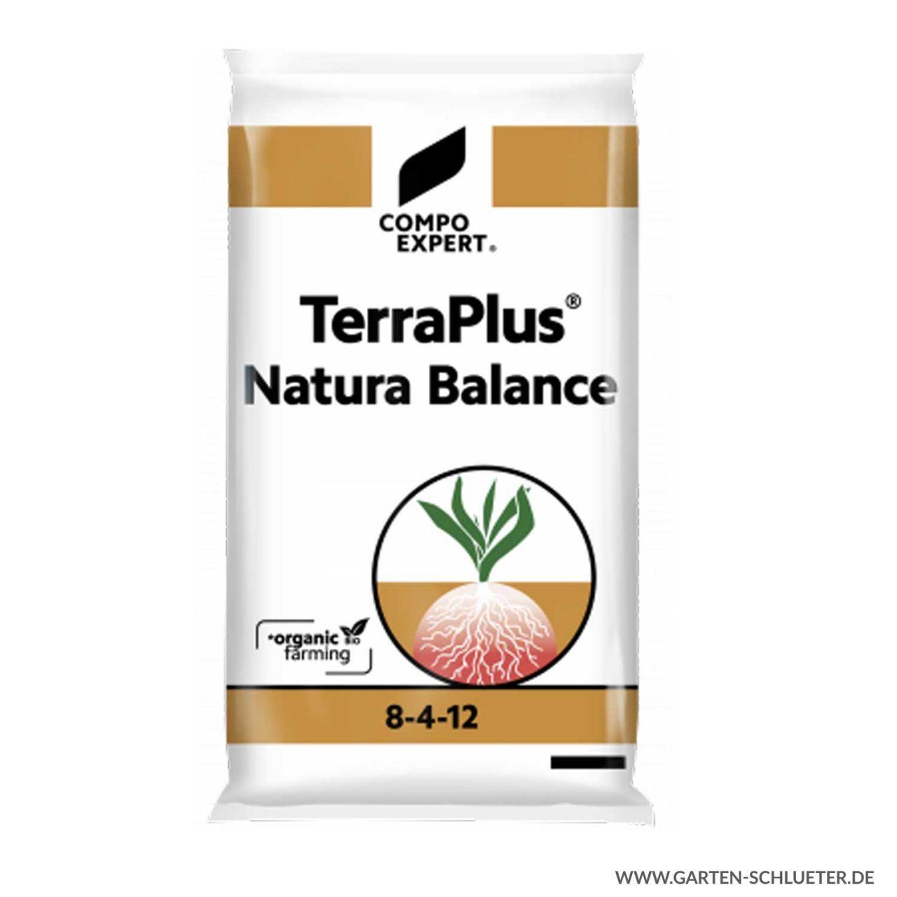Rein organischer Dünger - Compo Expert® TerraPlus® Natura Balance 8-4-12 - 25 kg