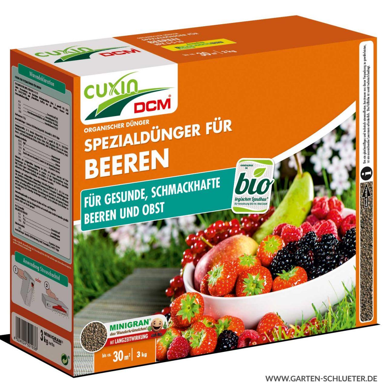 Cuxin Beerensträucher- und Obstbaumdünger 3 kg