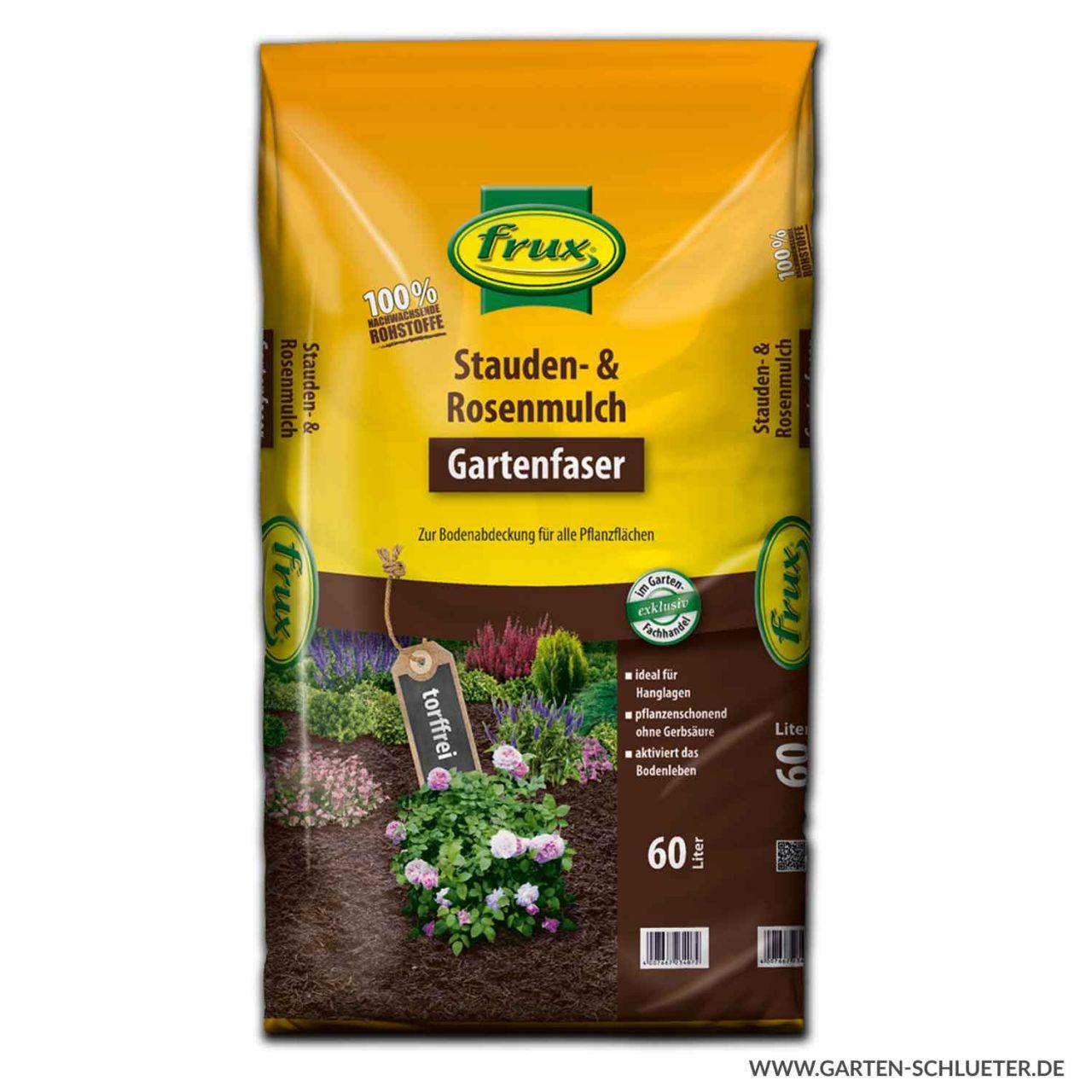frux - Stauden- & Rosenmulch 60 Liter 1 Palette/42 Sack