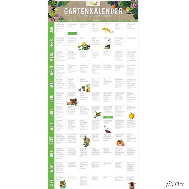 Gartenkalender 'Gartenarbeiten von Januar bis Dezember' auf einem Blick im Tü...