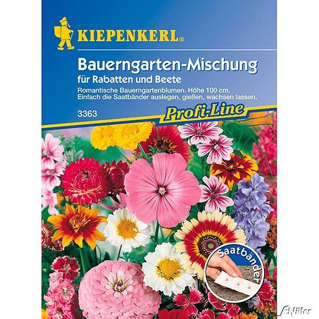 Blumenmischung 'Bauerngarten' - Saatband