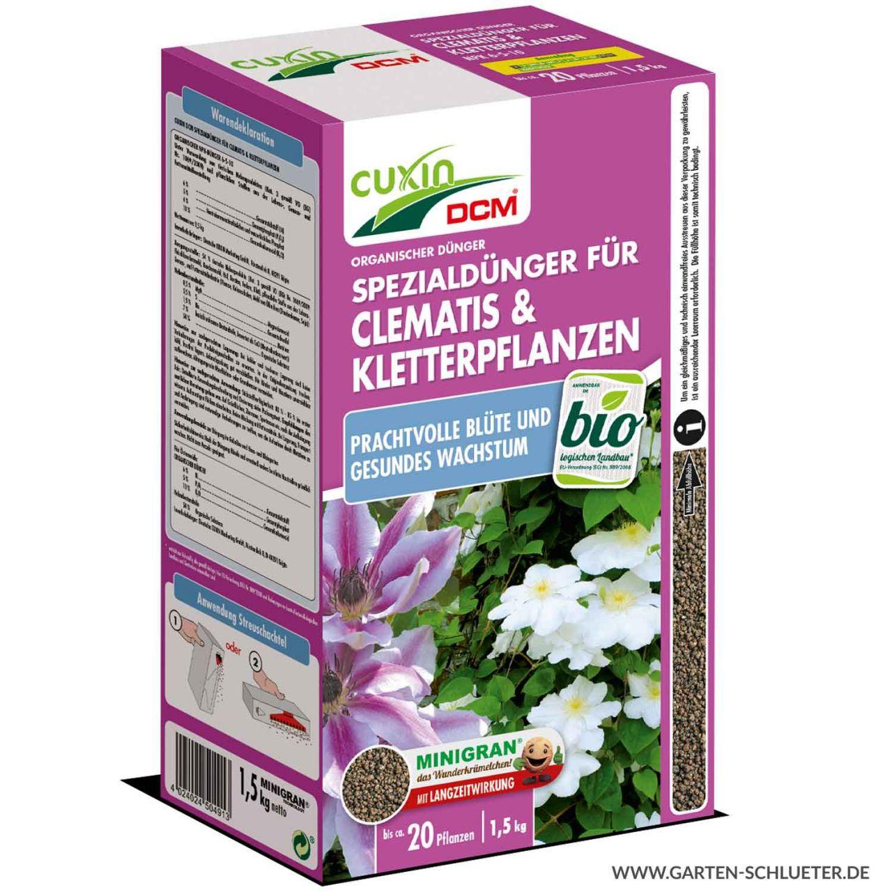 Clematis & Kletterpflanzen-Dünger - 1,5 kg